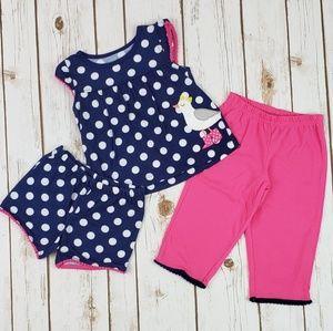 Baby Girls Summer Pajamas, Size 18 Months